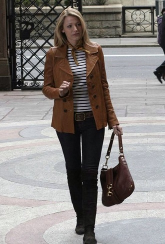 jacket blake lively gossip girl serena van der woodsen leather jacket trench coat
