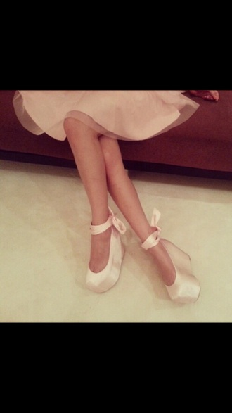 shoes ballerina pink platform shoes