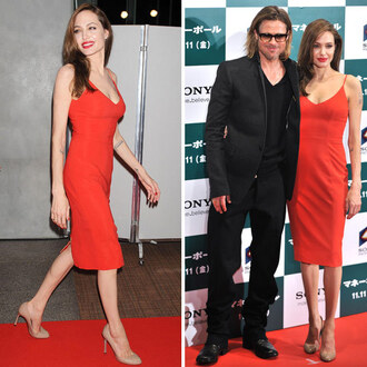 dress red dress red carpet angelina jolie