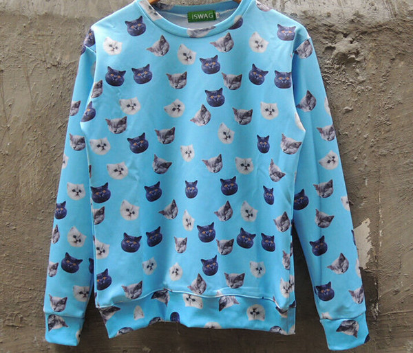 top cats print sweatshirt