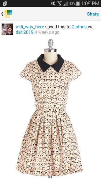 hipster collar collared dress