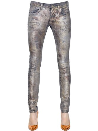 jeans denim cotton silver