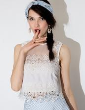 top,white crochet,crop tops,lace top,crochet top,mesh top,pixie market,pixie market girl