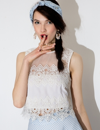 top white crochet crop tops lace top crochet top mesh top pixie market pixie market girl