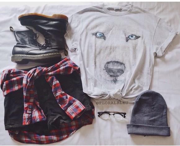 t-shirt print wolf wolf print hipster boots