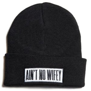 Amazon.com: Ain't No Wifey Beanie with Black Logo Word: Everything Else