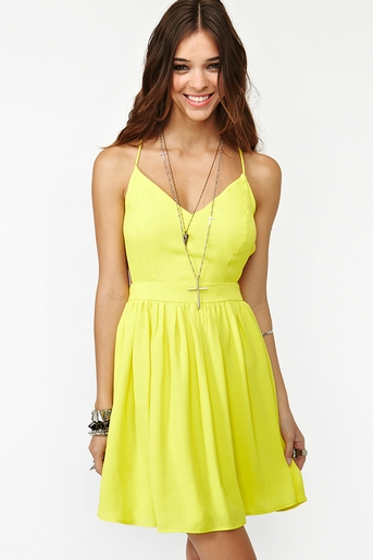 Yellow in  clothes dresses at nasty gal