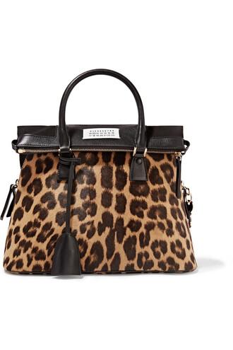 hair print leopard print bag