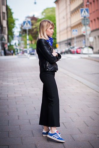 chaloth blogger jacket scarf pants shoes