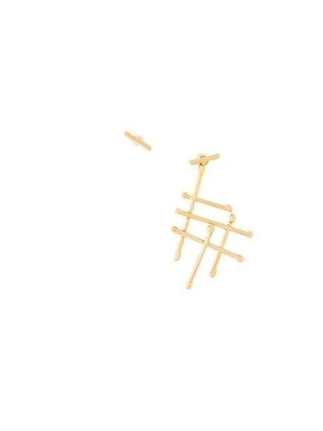 NORITAMY women earrings gold grey metallic jewels