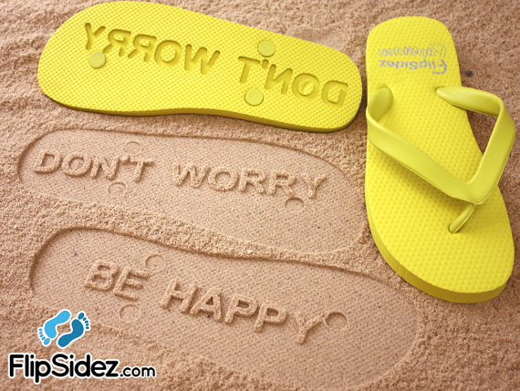 Custom Sand Imprint Flip Flops by FlipSideFlipFlops on Etsy