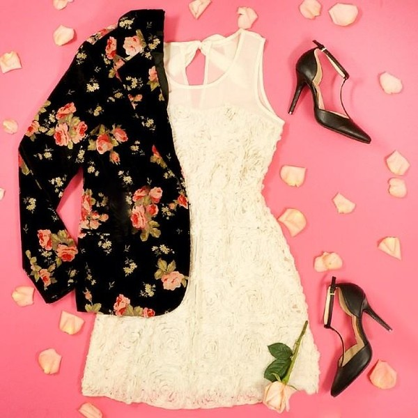 jacket blazer floral pink dress shoes