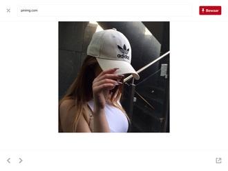 hat white adidas cap