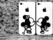 jewels,phone cover,mickey mouse,minnie mouse,iphone cover,phone,stickers,decal,kiss,cute,disney,cover,iphone5s,iphone,couple cases,iphone 5 case,lovers,white phone cases,minie mouse,minnie and mickey