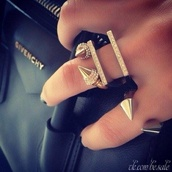 jewels,spikes,ring,gold