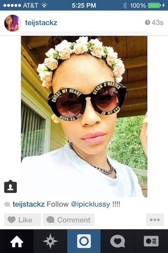 sunglasses fashion tumblr instagram round sunglasses