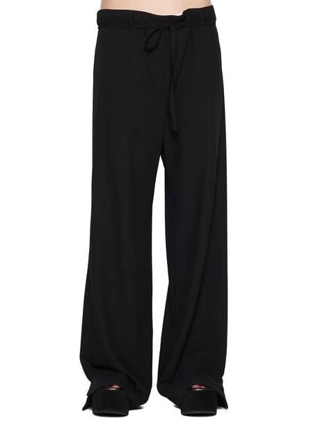 ANN DEMEULEMEESTER pants black