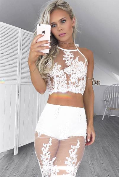 Bella Two Piece Dress - White