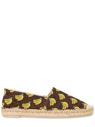 espadrilles black yellow shoes