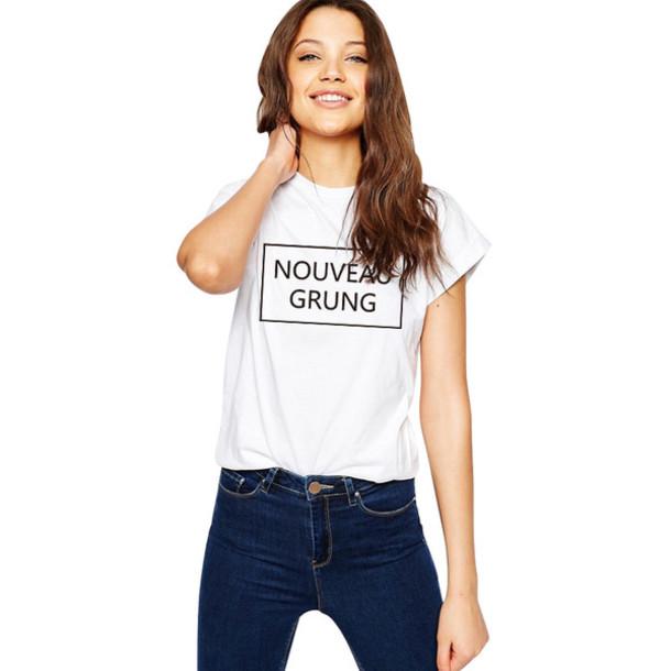 T Shirt Nouveau Grung Graphic Tees Women 2016 New