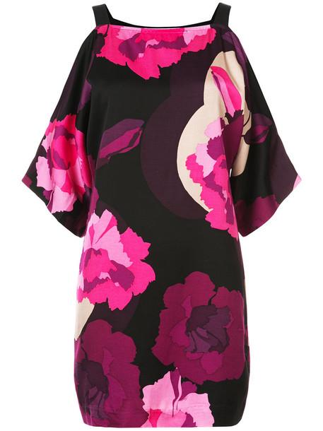 TRINA TURK dress print dress women spandex floral print purple pink