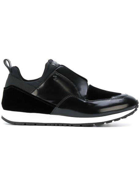 women sneakers leather black velvet neoprene shoes