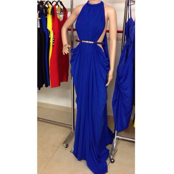 dress sexy 2014 prom dress prom dress royal blue