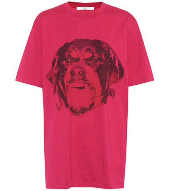 Givenchy t-shirt shirt cotton t-shirt t-shirt cotton pink top
