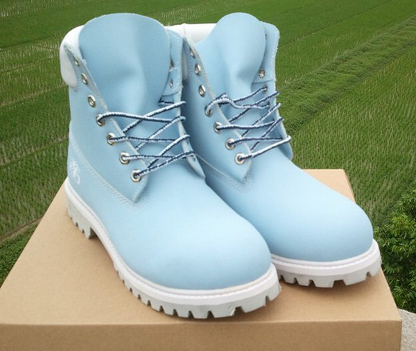 shoes baby blue timberland boots blue high top