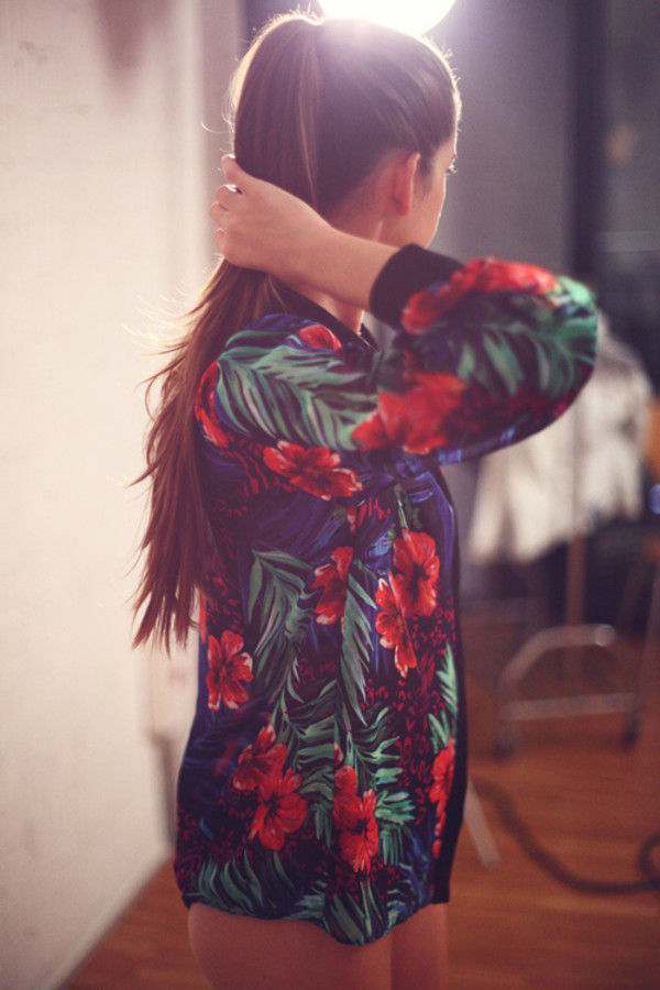jacket floral printed jacket pattern