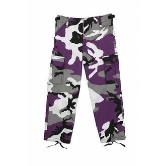 pants camo pants camouflage purple black and white trendy