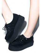 shoes,black,creepers