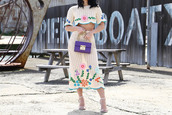 ktr style,blogger,bag,shoes,dress,two piece dress set,spring outfits,sandals,high heel sandals