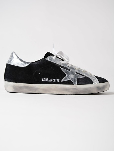 Golden goose sneakers. sneakers silver suede black shoes