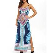 dress,maxi dress,slip dress,bohemian print dress,open back dresses,floor length dress,geometrical dress