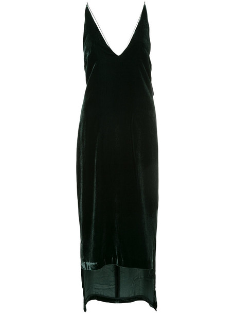 Dion Lee dress women silk velvet green