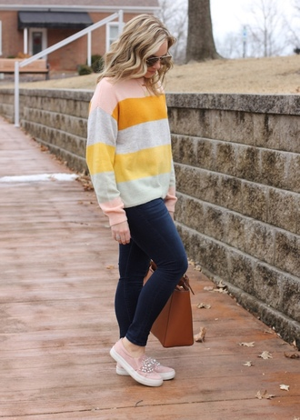 stylin in st. louis blogger sweater jeans shoes jewels bag sunglasses tote bag skinny jeans