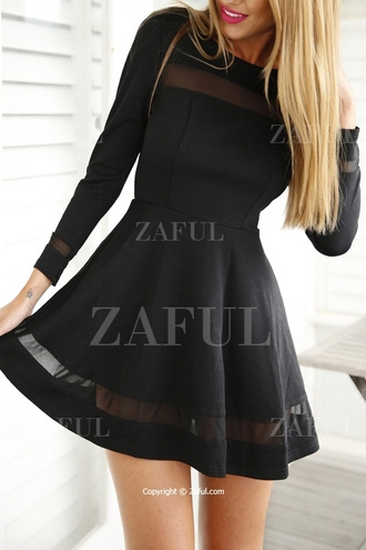 dress dolly skater dress black dress black little black dress zaful summer summer dress back to school casual dress sexy cute dress outfit