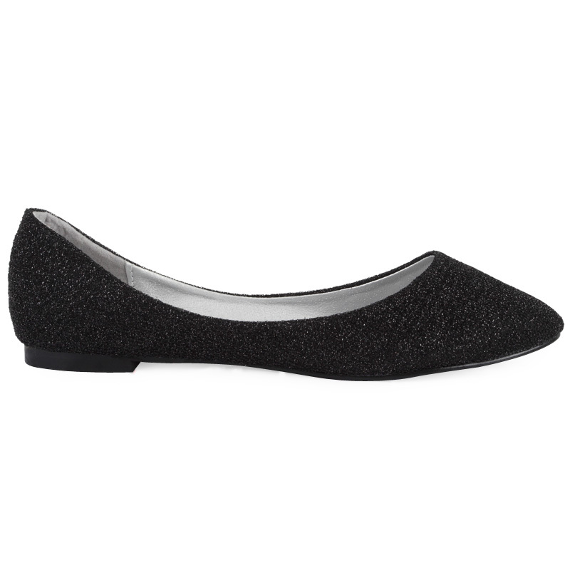 d5fab4215f14 NEW LADIES BLACK SHIMMER GLITTER WOMENS POINTY TOE ...