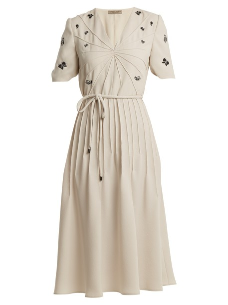 dress embroidered cream