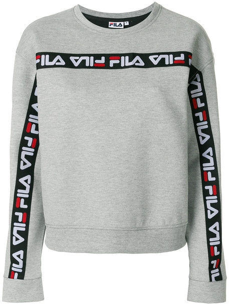 fila sweatshirt women spandex cotton grey sweater