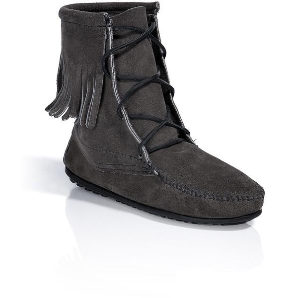 Minnetonka grey tramper ankle boots