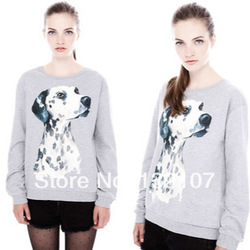 Online Shop New Winter Dalmatians Printing Warm Sweatshirt Long Sleeve Crew Neck Pullovers Women Sweater Printing Women Tops WX-111|Aliexpress Mobile