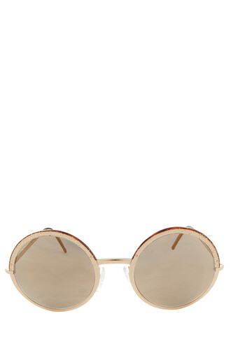 glitter metal sunglasses gold