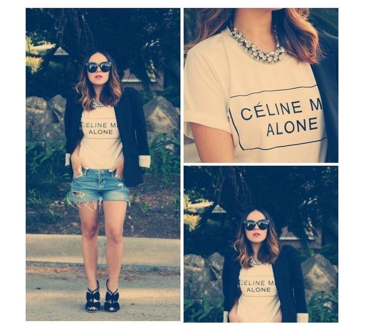 Celine Me Alone T Shirt Rihanna Feline Homie Hipster Wear | eBay