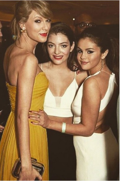 dress lorde taylor swift selena gomez Golden Globes 2015