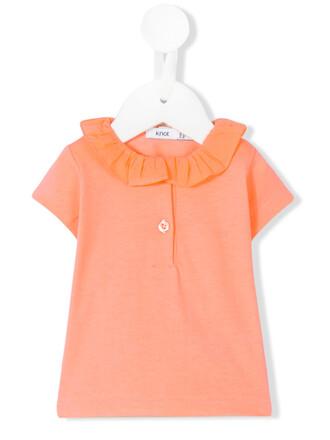 top cotton yellow orange