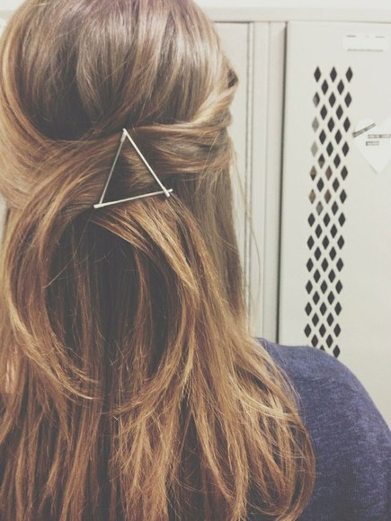 triangle hair accessory accesory long hair