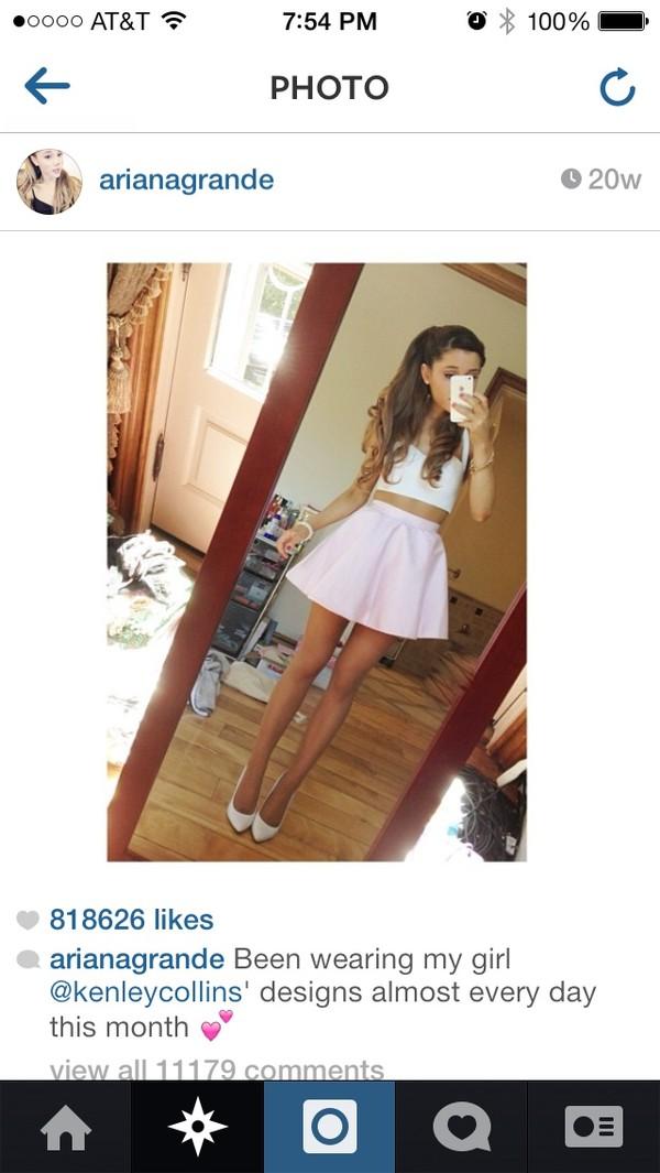 skirt ariana grande pink skirt shirt