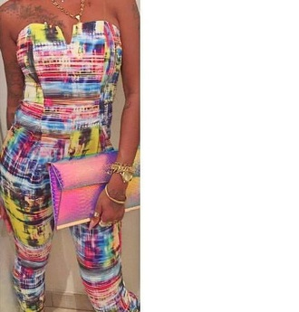jumpsuit multicolor glamour sexy
